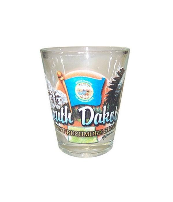 S Dakota elements shotglass