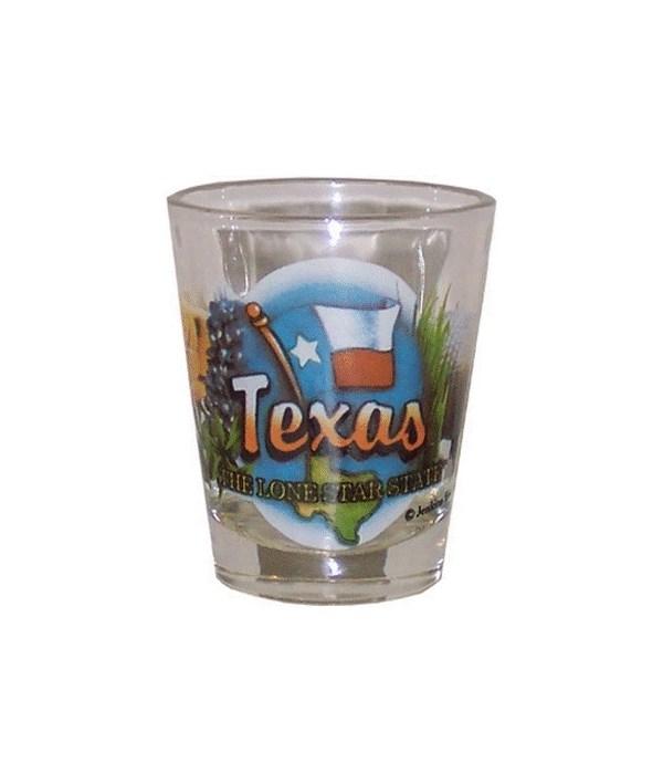 Texas elements shotglass