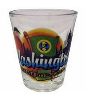 Washington elements shotglass