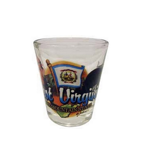 W Virginia elements shotglass