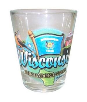 Wisconsin elements shotglass