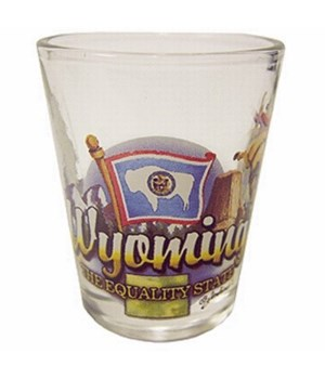 Wyoming elements shotglass