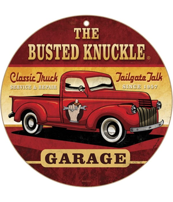 """Busted Knuckle Classic truck 10"""" sign"""