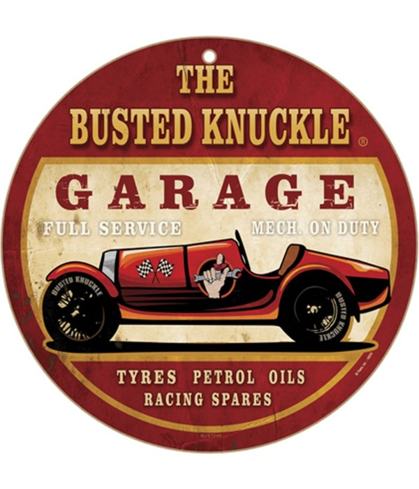 """Busted Knuckle Full Service 10"""" sign"""