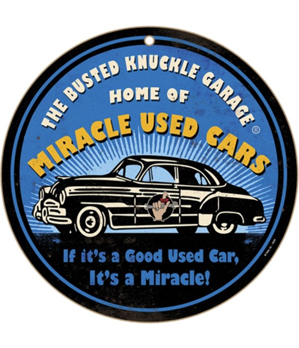 """Busted Knuckle Miracle Used10"""" sign"""