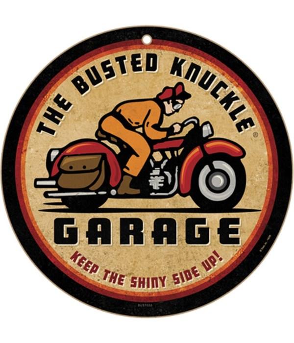 """Busted Knuckle Garage 10"""" sign"""