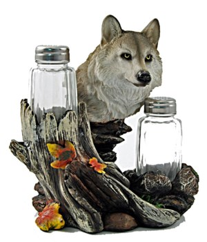 Wolf Salt & Pepper Set - 6.75""
