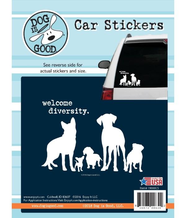 Welcome Diversity Car Sticker