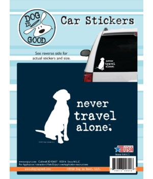 Never Travel Alone Car Sticker