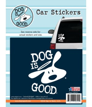 Dog Is Good Car Sticker
