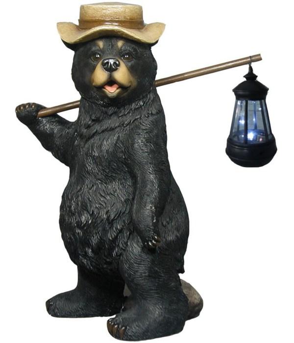 """Bear lamp 16.5""""T /Solar"""