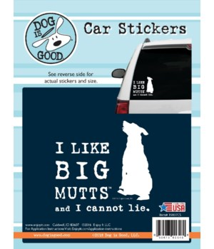 I Like Big Mutts Car Sticker