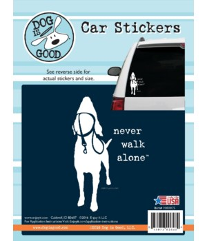 Never Walk Alone Car Sticker