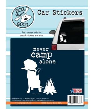 Never Camp Alone Car Sticker