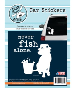 Never Fish Alone Car Sticker