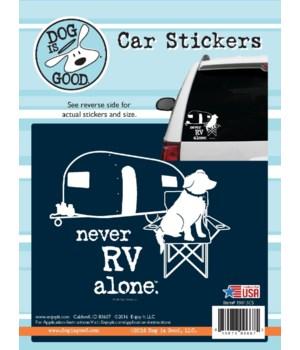 Never RV Alone Car Sticker