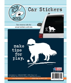 Make Time for Play Car Sticker