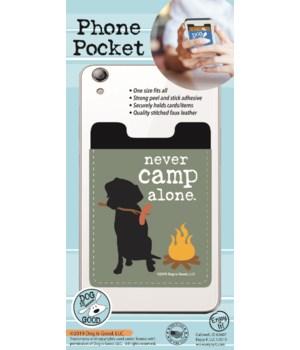 Never Camp Alone Phone Pocket