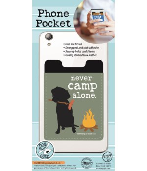 Never Camp Alone Phone Pocket