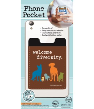 Welcome Diversity Phone Pocket