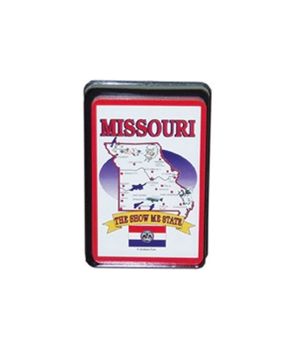 MO Playing Cards State Map 24PC