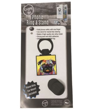 Pug Phone Ring & Stand