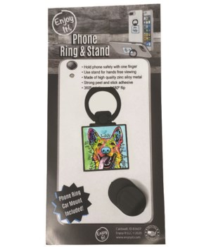 German Shepherd Phone Ring & Stand