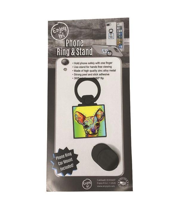 Chihuahua Phone Ring & Stand