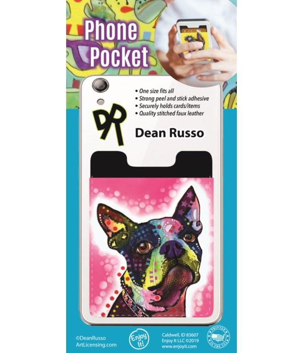 Boston Terrier Phone Pocket