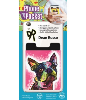 Boston Terrier Phone Pocket