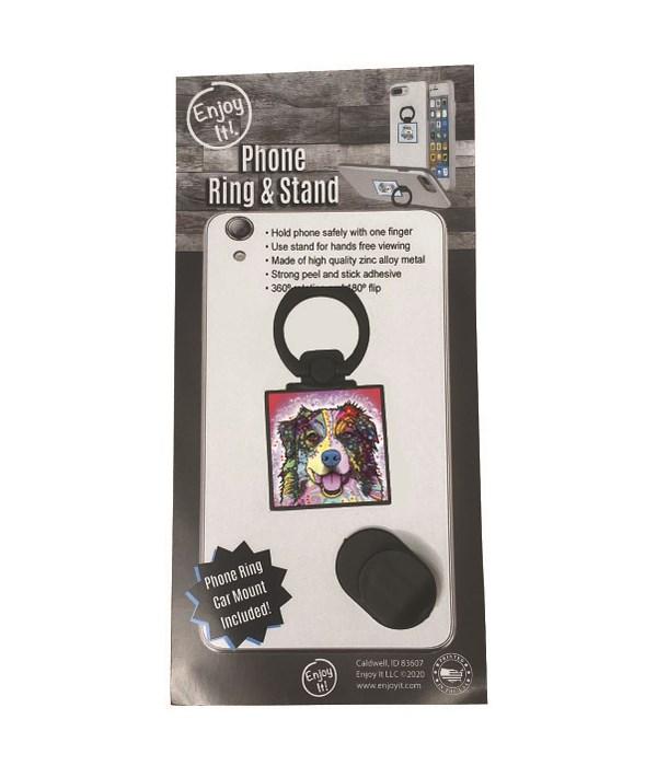 Australian Shepherd Phone Ring & Stand