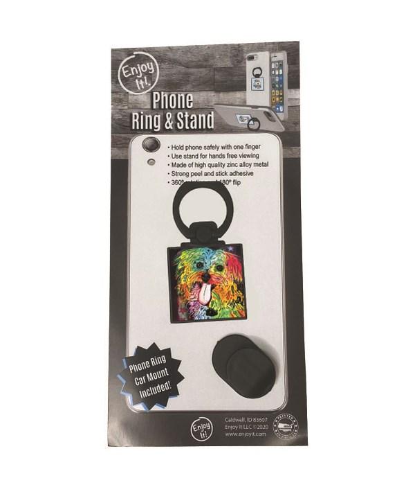 Shih Tzu Phone Ring & Stand