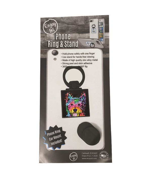 Westie Phone Ring & Stand