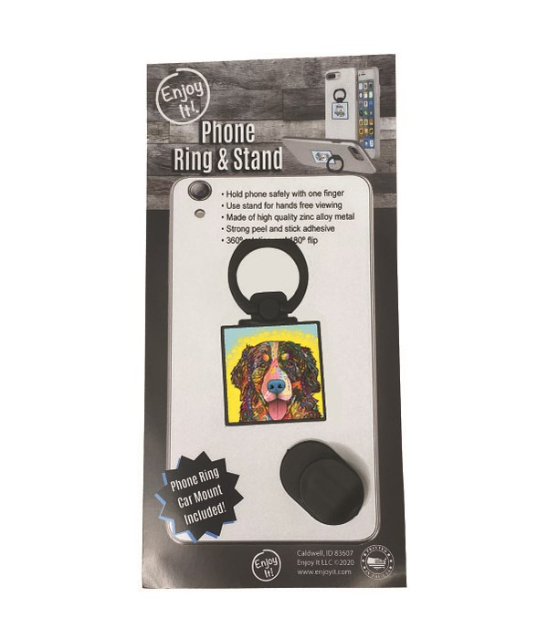 Bernese Mtn. Dog  Phone Ring & Stand