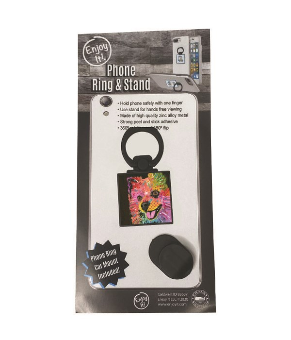 Pomeranian Phone Ring & Stand