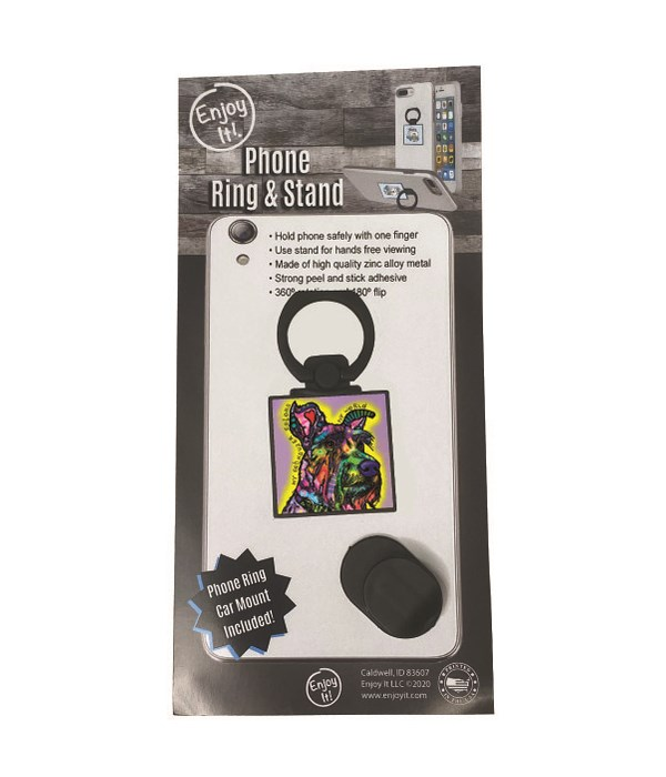 Schnauzer Phone Ring & Stand