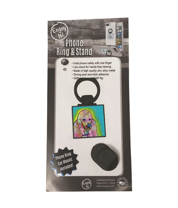 Poodle Phone Ring & Stand