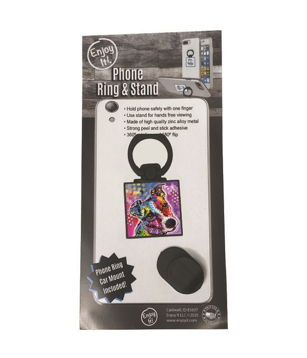 Jack Russell Phone Ring & Stand
