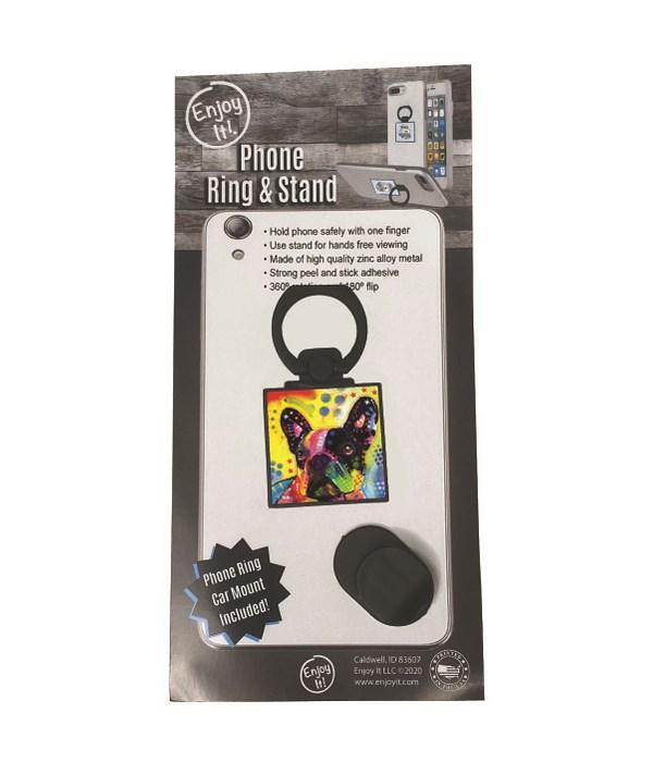 French Bulldog Phone Ring & Stand