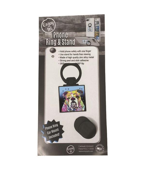 Bulldog Phone Ring & Stand