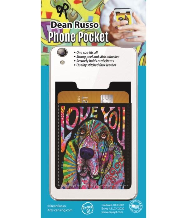 Basset Hound Phone Pocket