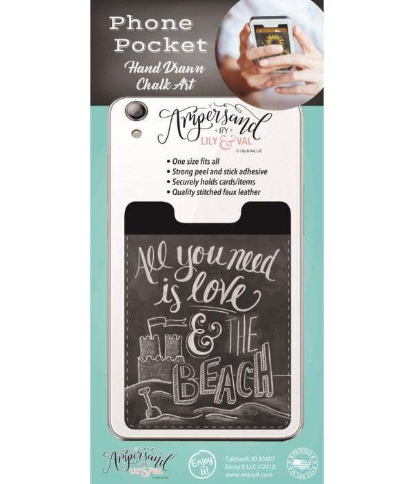 Love & The Beach Phone Pocket