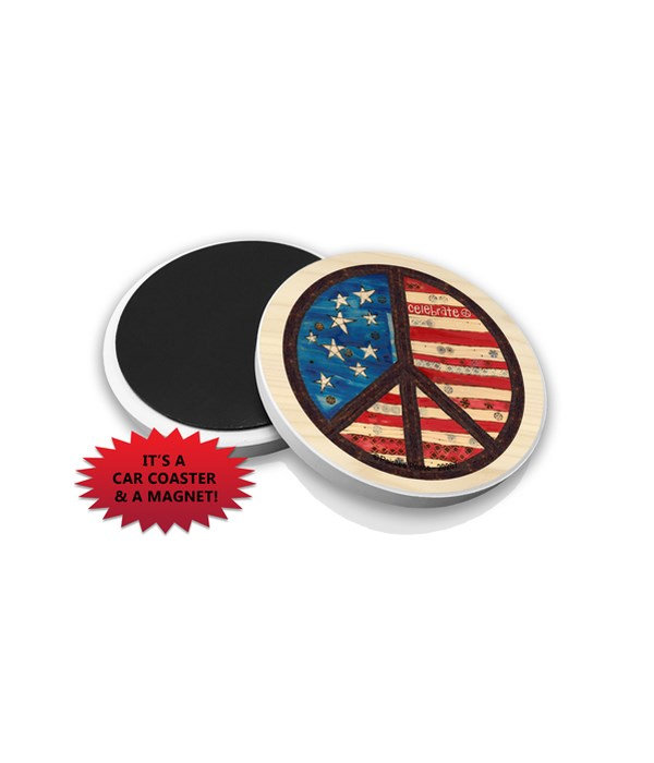 Celebrate (American flag with brown peac
