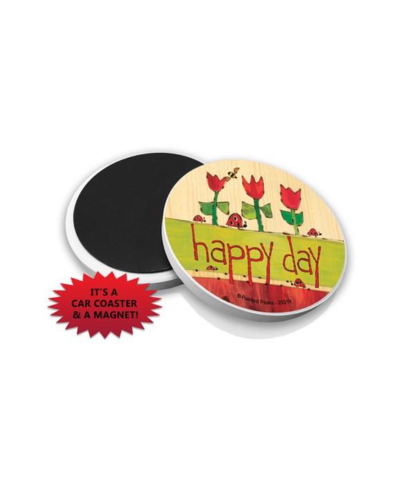 Happy day (ladybugs & red tulips)