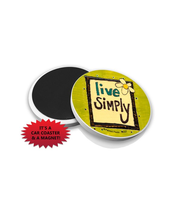 Live Simply (flower with frame, greenish