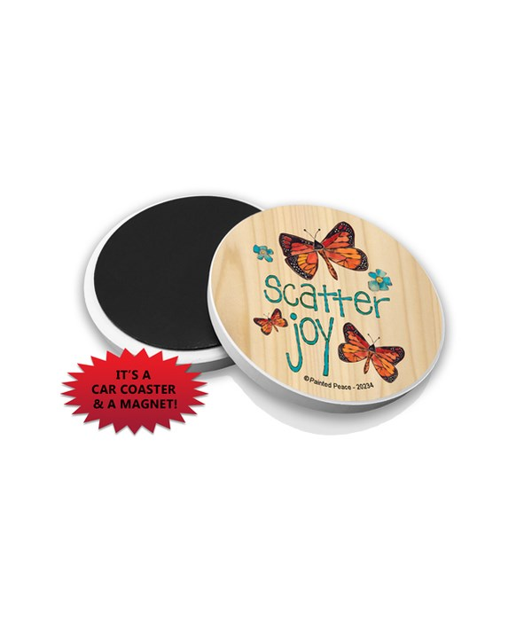 Scatter joy (3 butterflies, 2 blue flowe