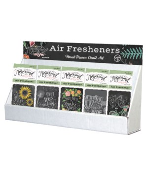 Chalk Art Air Freshener Large Counter Display