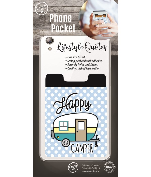 Happy Camper Phone Pocket