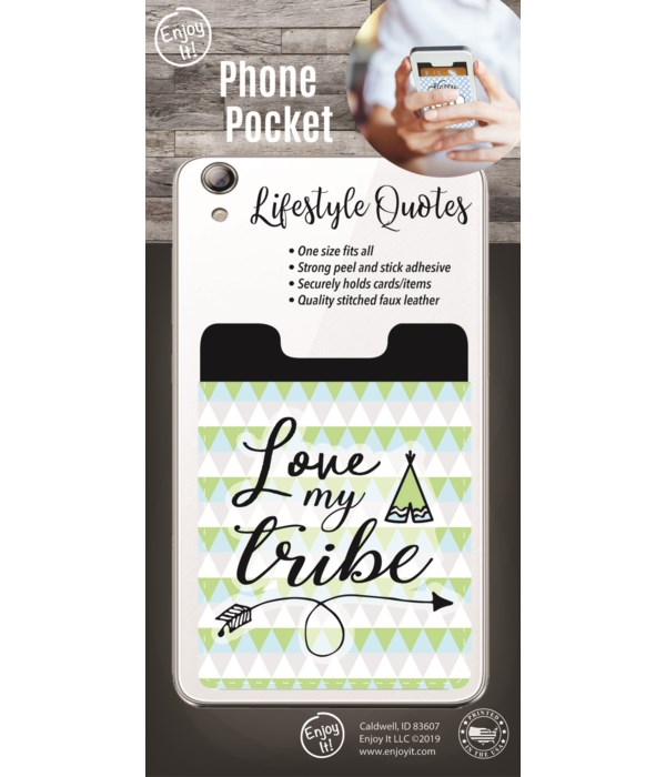 Love My Tribe Phone Pocket