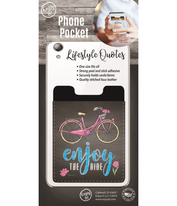 Enjoy The Ride Phone Pocket